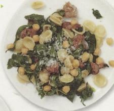 Chickpea, Kale, Sausage Pasta